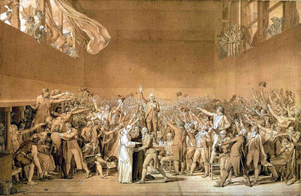 Foto: Le Serment du Jeu de paume, Jacques-Louis David