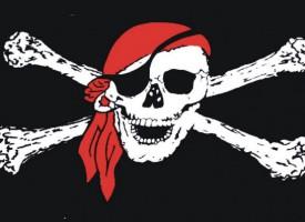 Pirater chokerer SOK med papegøjer, rom og skattekister