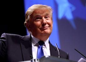 Voksen konfiskerer Donald Trumps smartphone