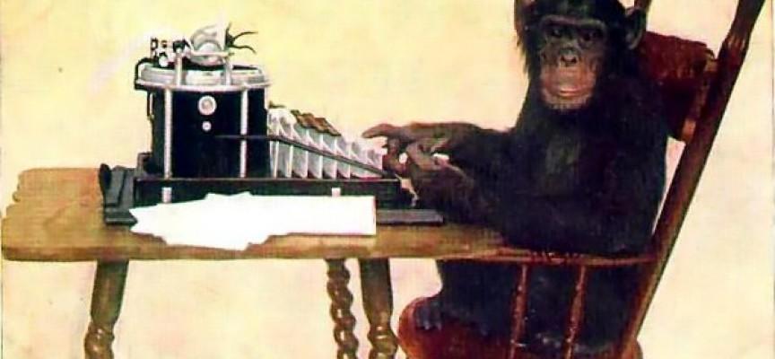 Abe med skrivemaskine genskaber Donald Trumps tweets på en formiddag