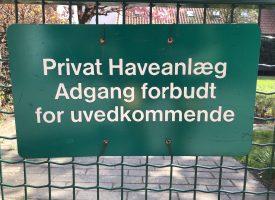 Alternativet: Indfør allemandsret i private haver